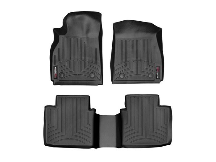 WeatherTech DigitalFit Floor Mats for XTS/Falcon [Covers Front & Rear, Black] (WEA95175)