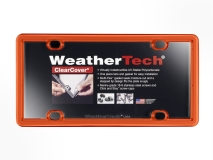 Orange - WeatherTech ClearCover License Plate Cover