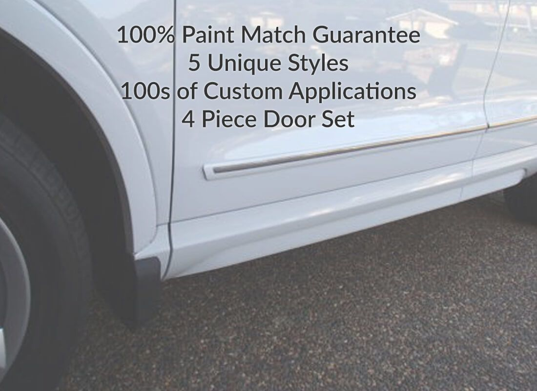 Car Door Molding Set Paint Color Matched Door Guards