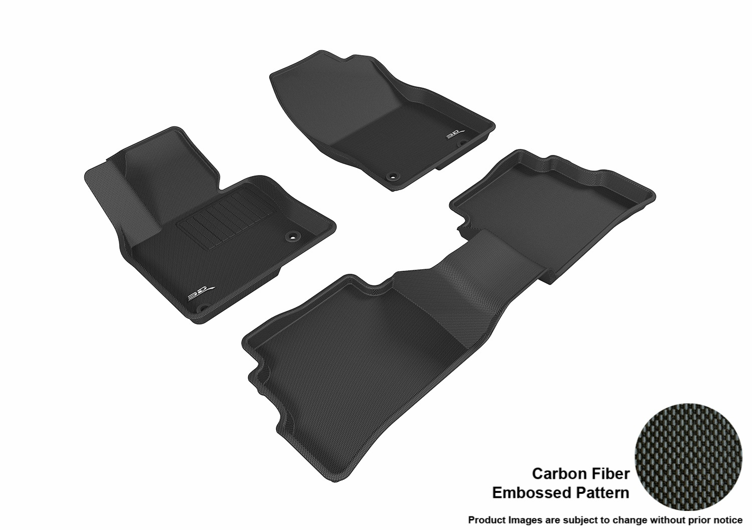 3D MAXpider L1MZ05811501 Gray All-Weather Floor Mat for Select Mazda Cx-5 Models Front Row