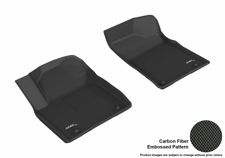 for Select Nissan Armada Models 3D MAXpider L1NS09531509 Black Kagu Rubber Third Row All-Wether Floor Mat