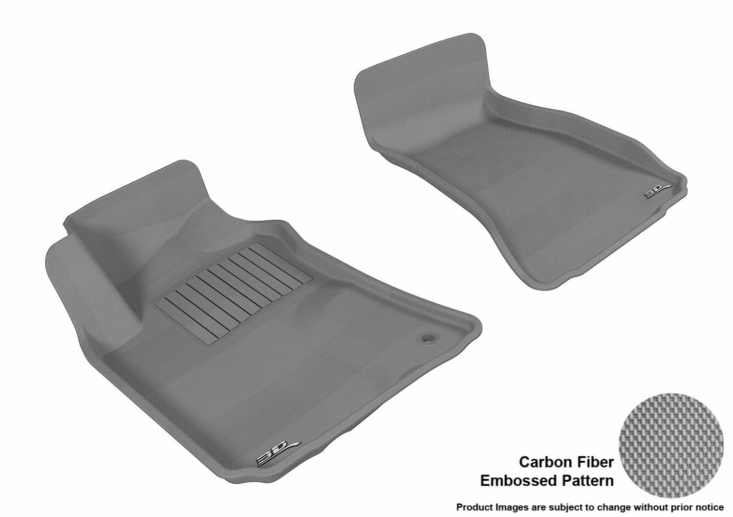 Nylon Carpet Black Coverking Custom Fit Front Floor Mats for Select Dodge Challenger Models