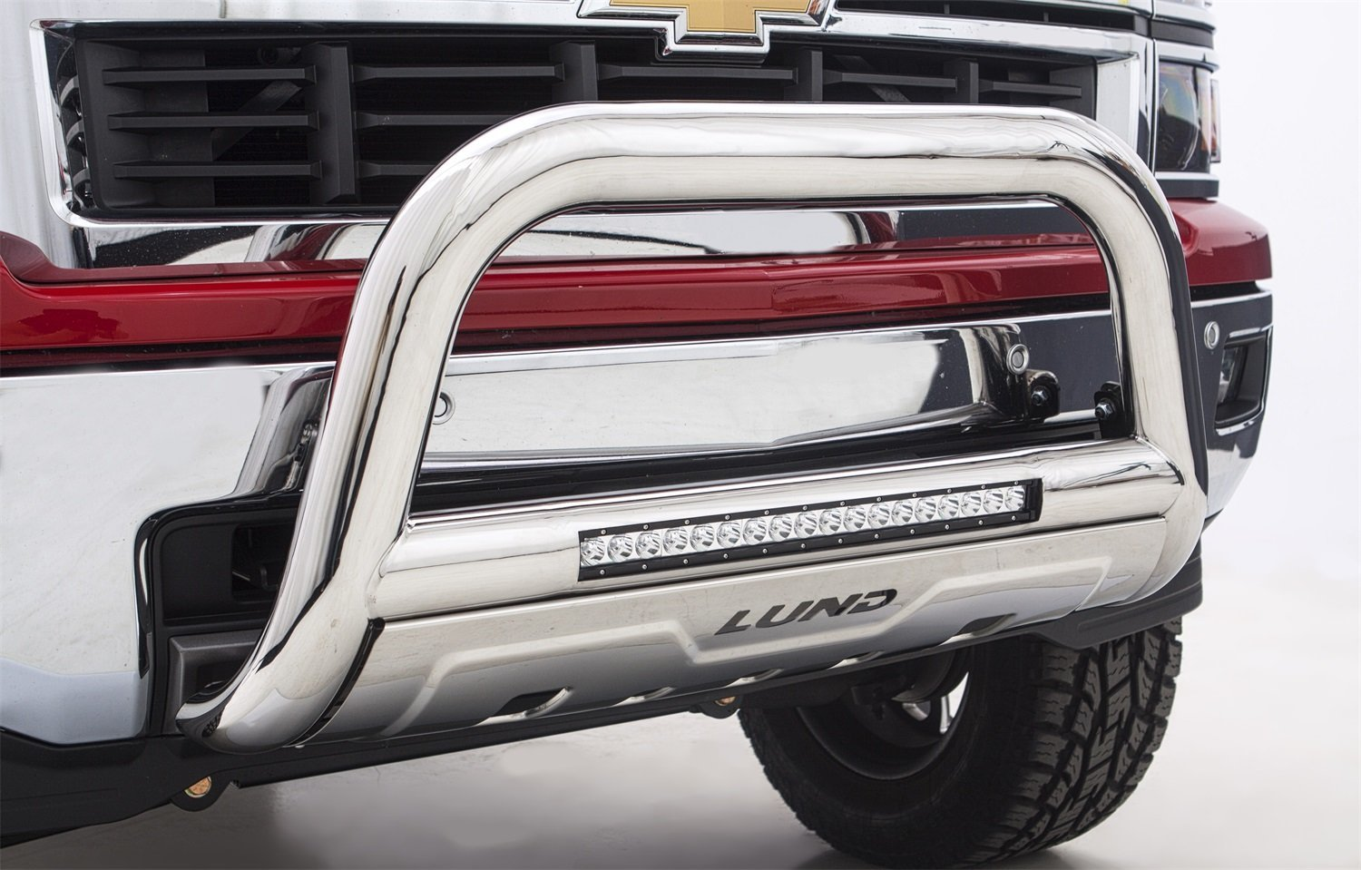 Lund Bull Bar with LED Light Bar - Fast & Free Shipping!