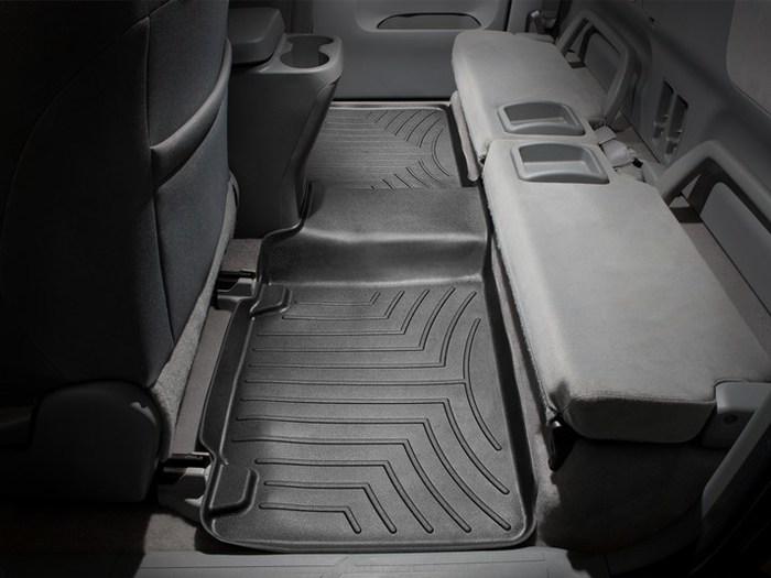 WeatherTech Front FloorLiner for Select Toyota Tacoma Models 444521 Black