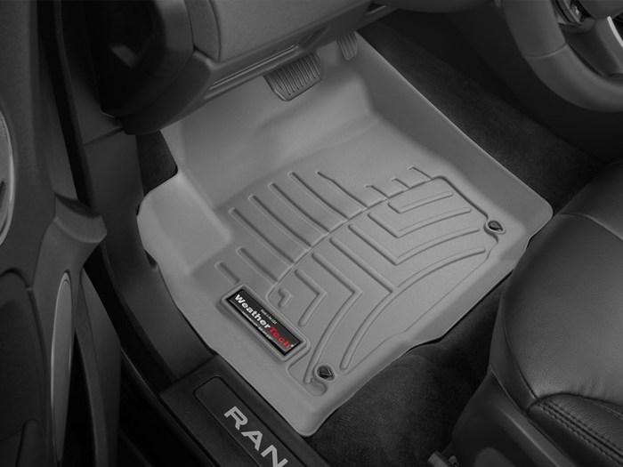 Black WeatherTech Front FloorLiner for Select Land Rover Range Rover Evoque Models