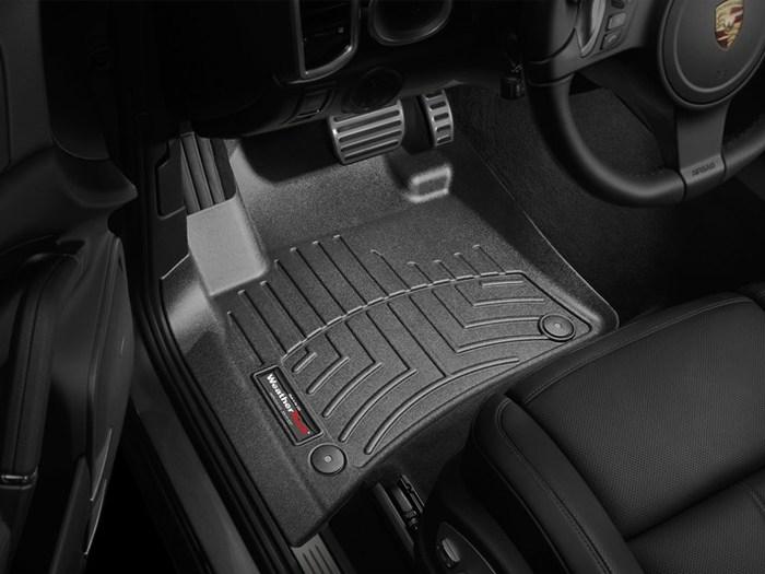 Tailored Car Floor Mats GREY 2003 on PORSCHE CAYENNE