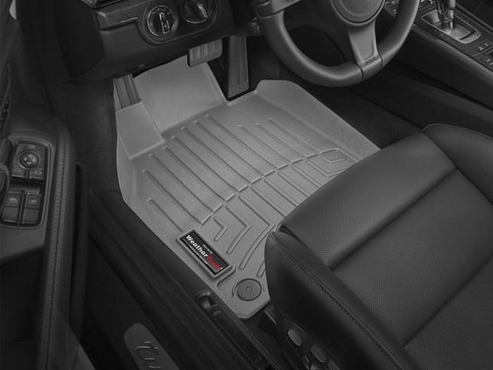 Black WeatherTech Trim to Fit Front Rubber Mats for Select Porsche 911//Cayman Models