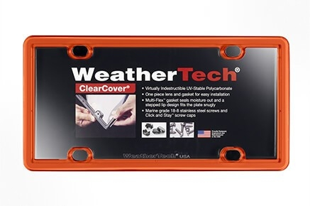 WeatherTech ClearCover License Plate Cover (17 Colors)