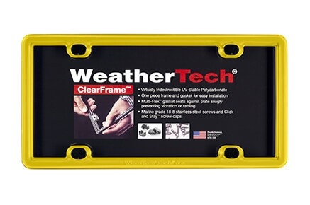 WeatherTech ClearFrame License Plate Frame (17 Colors)