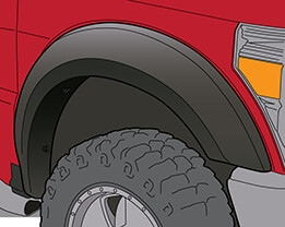 Extended Look Fender Flares