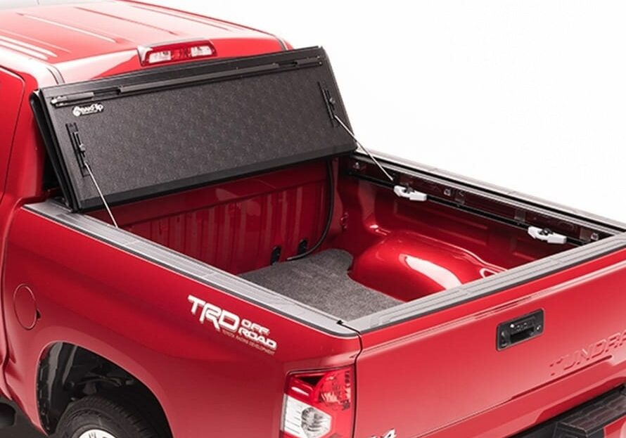 Bakflip g2 truck bed cover opened