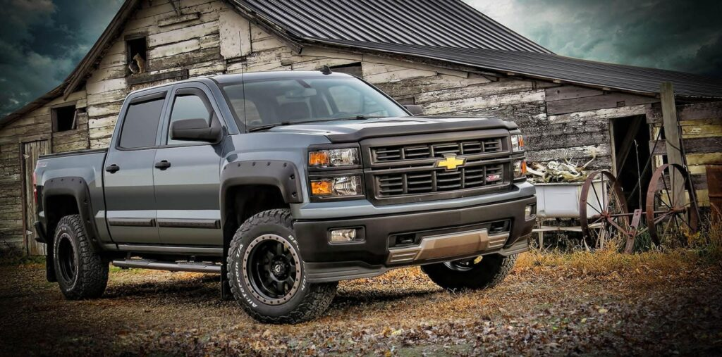 Chevy truck with EGR accessories installed