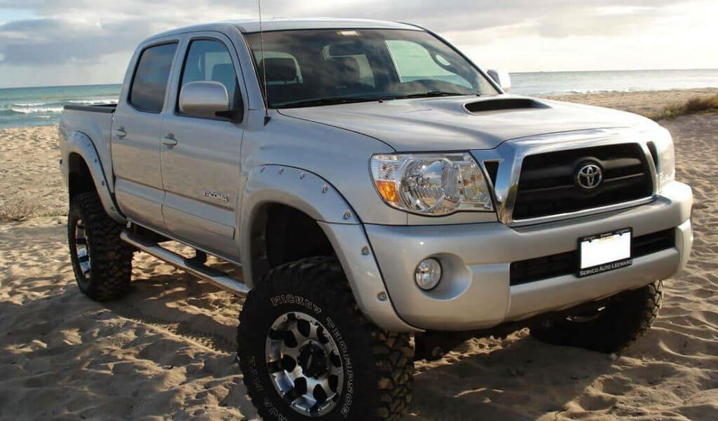 Bushwacker truck on the beach