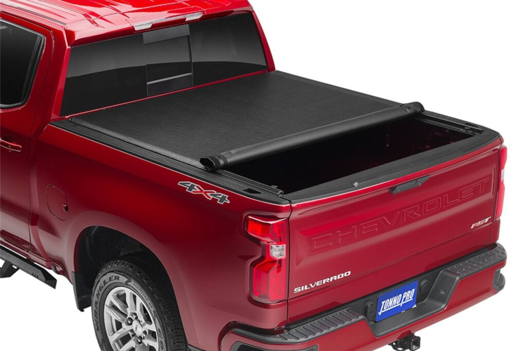 This is the image of TonnoPro RollUp Tonneau Cover which is a soft rollup tonneau.