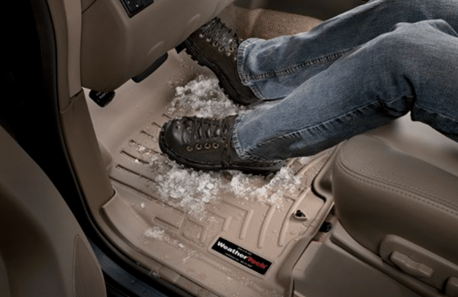 WeatherTech floor mats with snow/water channeling